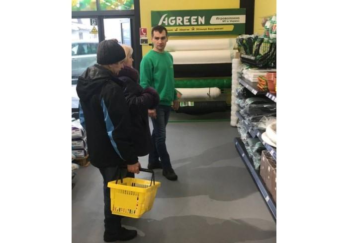 Agreen на открытии нового супермаркета Leto