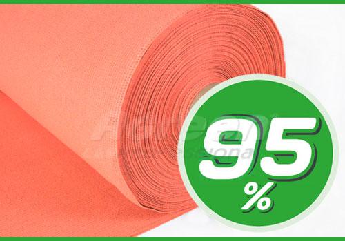 Сетка затеняющая 95%. Оранжевая