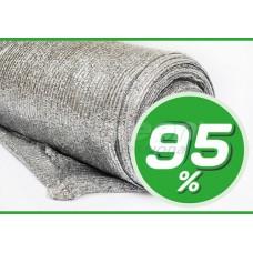 Сітка затіняюча 95%. Срібна