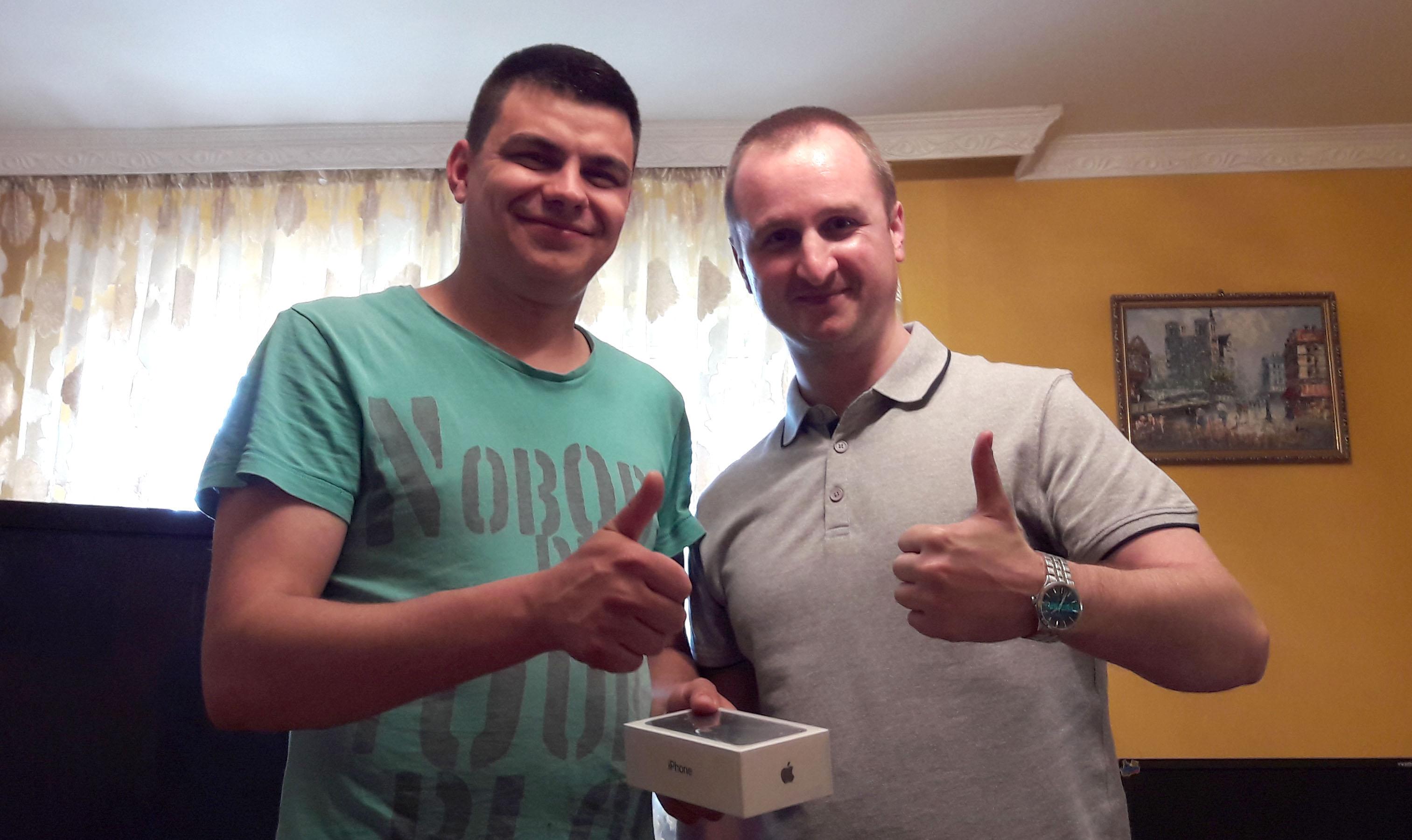 Награждения победителя розыгрыша «Хочу iPhone7!» от ТМ Agreen